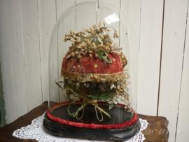 Zeer mooie Franse bruidsstolp met waskroontjes en was boeket