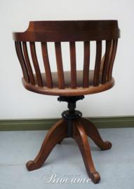 Verstelbare Amerikaanse bureaustoel uit de jaren '20
