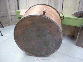 Mooie oude brocante koperen waskuip - diameter 66 cm