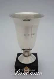 Massief zilveren bekertje - gehalte 835 - Royal Zoute Golf Club (RZGC)