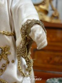 Prachtig antiek kindje Jezus met zilveren straal krans