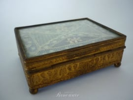 Antieke sigaren box, epoque Napoleon III, Empire stijl