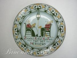 Art nouveau bord Franz Anton Mehlem, Bonn - Zooals 't Klokje