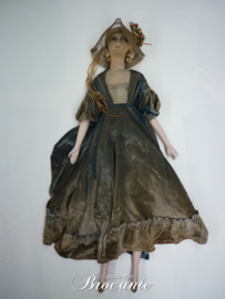 Antiek Franse boudoir pop, sofa doll