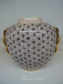 Raymond Chevalier voor Boch freres - Art Deco vaas met floraal decor