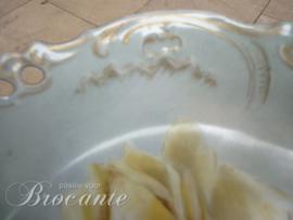 Mooi art nouveau sierbord met gele roos