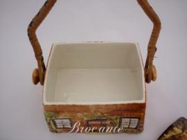 Vintage koekjeshuis in keramiek