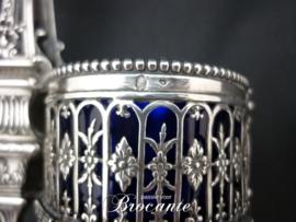 Prachtige massief zilveren zoutstel gehalte 800 (Minerva)