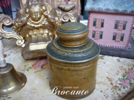 Brocante Franse theebus in gedreven messing