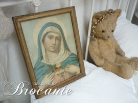 Vintage frame with H. Maria print