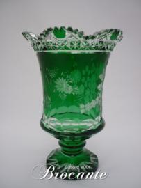 Mooie groene kristallen siervaas van Meissen