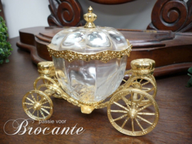 Franklin Mint 24K goudvergulde kristallen koets van Assepoester