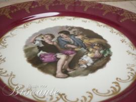 Vintage porcelein sierbord met kindjes - Gloria
