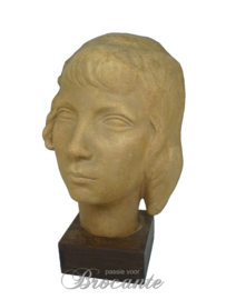 Young girl, pottery, art deco signed P Joris
