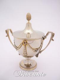 Prachtige massief zilveren suikerpot, gehalte 800 - Royal Zoute Golf Club (RZGC)