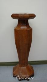 Vroeg 20e eeuw Art Deco zuil of vaasstandaard Burl vavona redwood