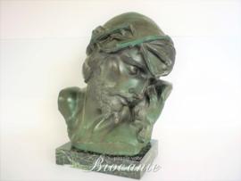 Christuskop ecce homo in terracotta - G. Marton nr 2226