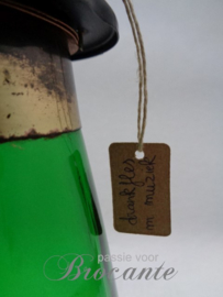 Vintage vuurtoren fles met muziekdoos