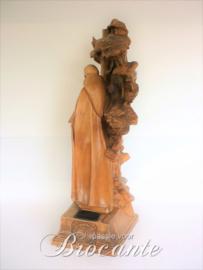 Sculpture in notelaar - Alfons De Wispelaere (1879-1957 Brugge)