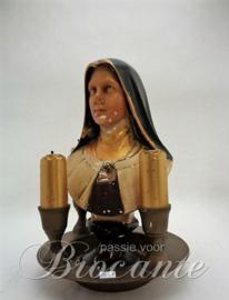 Brocante Theresia van Lisieux buste in gips