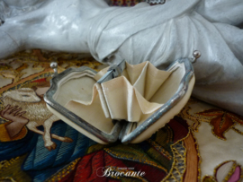 Antieke Franse dames portemonnee met vogeltjes