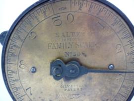 Brocante Salter weegschaaltje - Family Scale No 50
