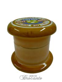 Reclame voorwerp naaigaren, naaidoos (pot)