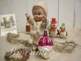 Antieke glazen kerstbal