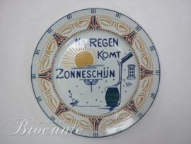 Art nouveua bord Franz Anton Mehlem, Bonn - Na regen komt