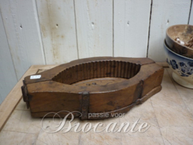 Antieke Franse houten botermal botervorm