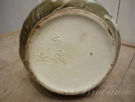 Mooie art nouveau waterkan met reiger