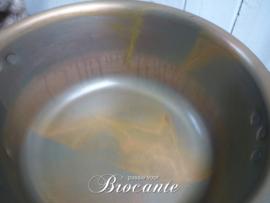 Brocante rood koperen confituurpot
