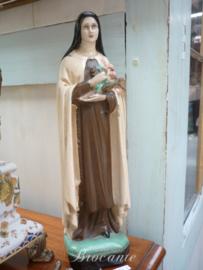 Brocante Heilige Theresia van Lisieux in gips