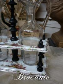 Antiek olie en azijnstel in Napoleon III stijl