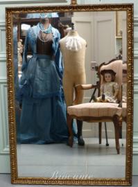 Grote vergulde barok spiegel facet geslepen - schouwspiegel