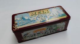 Heel mooie vintage oude blikken doos van de Meli