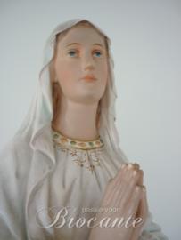 Grote brocante Maria van Lourdes in gips,  100 cm  hoog