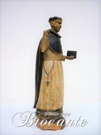 Antieke polychroom, de heilige Dominicus van Osma