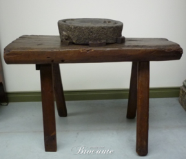 Oude antieke basalten kweern of korenmolen (handmolen)