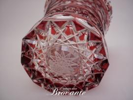 Mooie rode Meissen kristallen vaas
