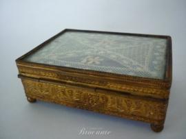 Antieke sigaren box, epoque Napoleon III, Empire stijl