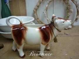 Leuk vintage roomkannetje in de vorm van een koe, Goebel
