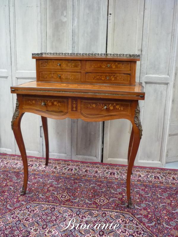 Prachtige antieke Napoleon III damessecretaire - bonheur du jour