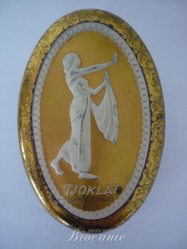 Ovaal vintage blik voor camée pastilles van TJOKLAT
