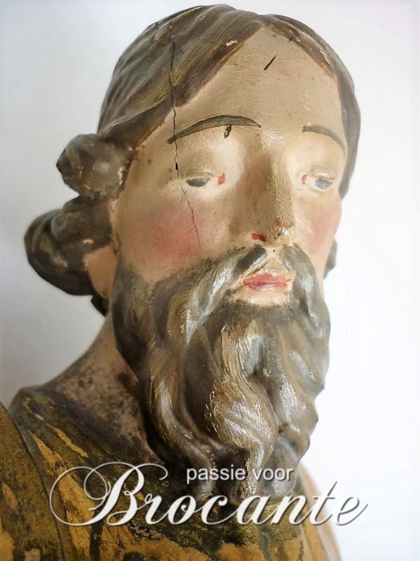 Antieke polychroom, de heilige Sint Elooi (Eligius)