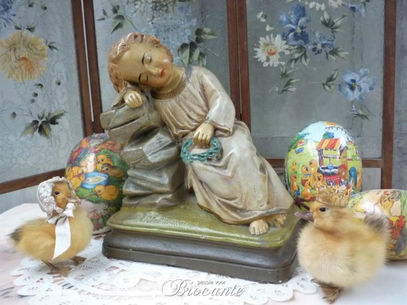 Brocante lief slapend kindje Jezus in gips