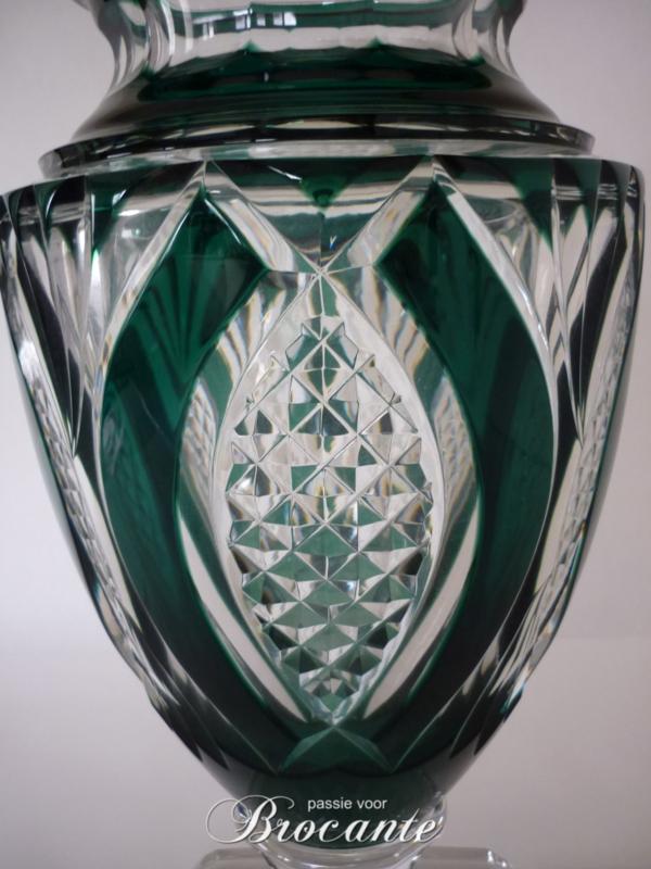 Grote VSL vaas Jupiter diamantslijpsel, smaragdgroen - 6,900 kg