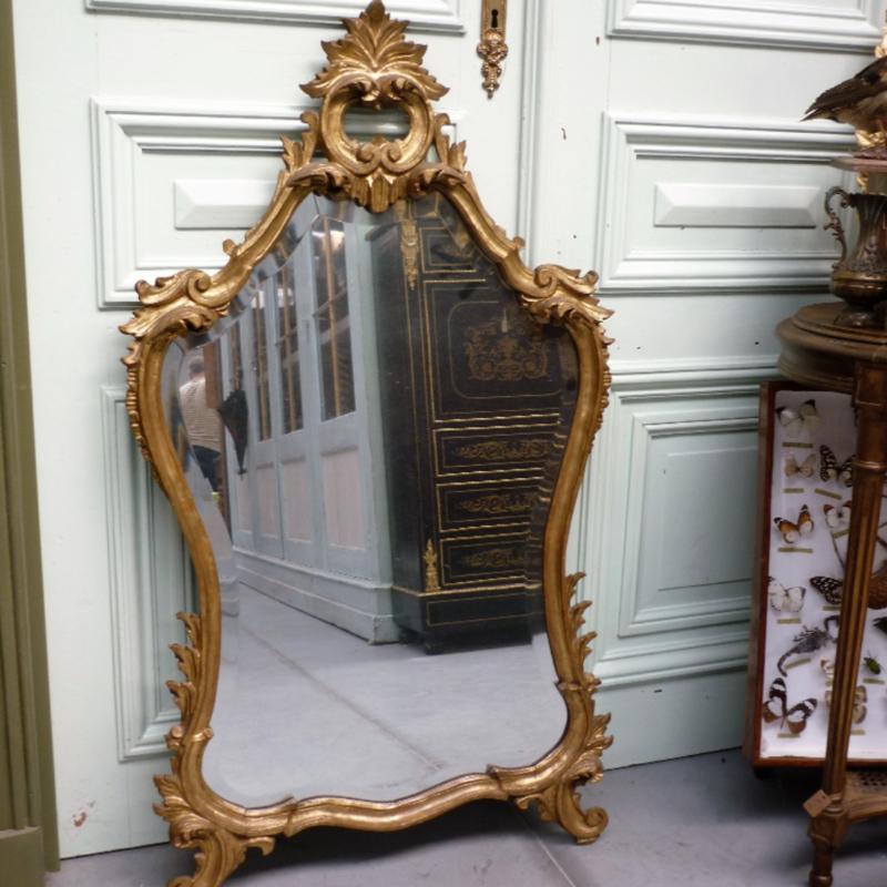 Antieke Brocante Spiegel.Antieke Rococo Italiaanse Spiegel Brocante Webwinkel