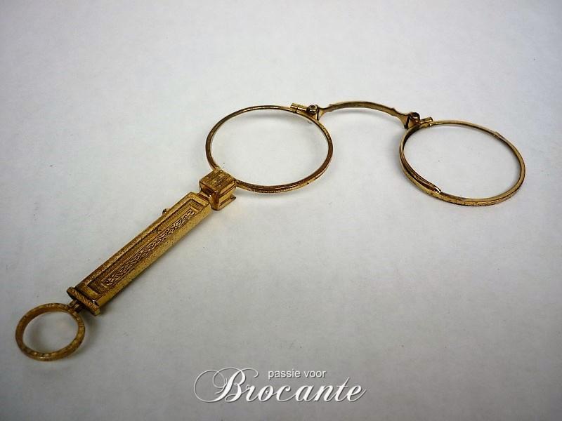 Elegante oude lorgnette leesbrilletje in art deco stijl