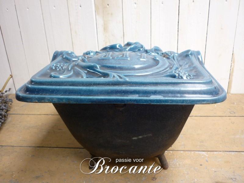 Brocante kolenbak in art nouveau stijl - LFG (Les Fonderies Bruxelloises)